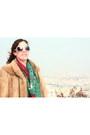 Off-white-fur-vintage-coat-hot-pink-h-m-scarf