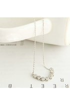silver dainty wwwlovelylovelyme necklace