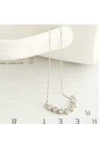 silver dainty wwwlovelylovelyme necklace