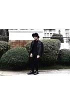 black Dr Martens shoes - black Forever 21 hat - black Forever 21 jacket