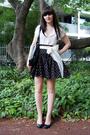 White-minkpink-blouse-black-french-connection-skirt-white-thrifted-belt-bl