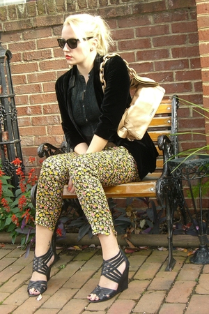 Topshop blazer - banana republic blouse - rag & bone pants - Prada purse - Joie