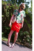 Anthropologie blouse - YSL purse - PROENZA SCHOULER sunglasses - Theory sandals
