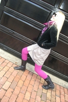 pink Marc by Marc Jacobs leggings - black Forever 21 jacket - pink banana republ