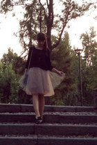 off white alexandra grecco skirt - navy max&co sweater - navy Orla Kiely bag
