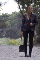 geometric print H&M jacket - Chanel bag - J Crew pants