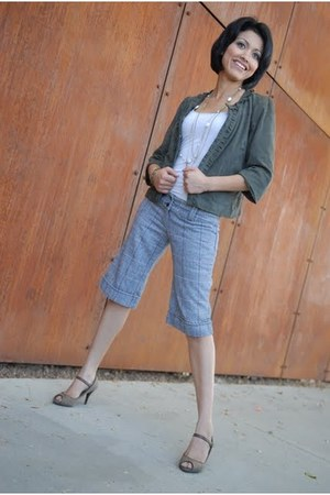 light brown predictions heels - charcoal gray Classiques Entier blazer