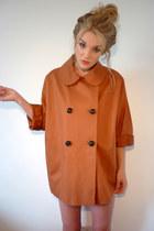 tawny oversized Topshop coat