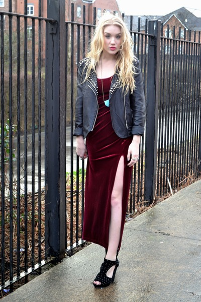 Goldie London jacket - vintage dress - Bad Passion necklace