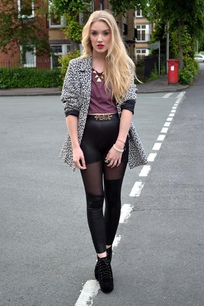 beige Edie Mac blazer - black so you shoes boots
