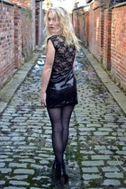 black sequinned lbd Madam Rage dress - black jc lita copies Topshop boots