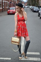ec1a83c86e05e coral Love dress - cream Chicwish bag · cream chic bag - peach TFNC LONDON  dress - black floppy hat ...