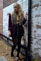 silver vintage shoes - maroon Vintage customised coat
