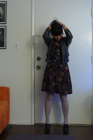 Forever21 dress - Urban Outfitters jacket - Givenchy stockings - Via Spiga shoes