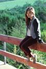 Tan-sam-edelman-boots-maroon-velour-jeans-topshop-jeans