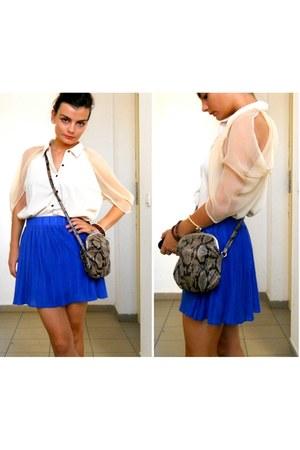 eggshell Vero Moda shirt - blue Zara skirt