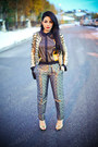 Gold-vintage-jacket-black-love-moschino-bag-mustard-calvin-klein-blouse