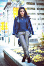 Black-forever-21-sweater-navy-zara-jacket-dark-khaki-zara-pants