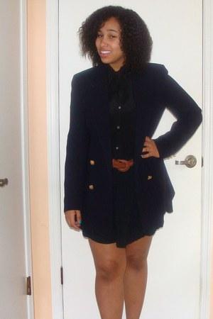fish tail belt H&M belt - Ralph Lauren blazer - H&M skirt - Forever 21 blouse
