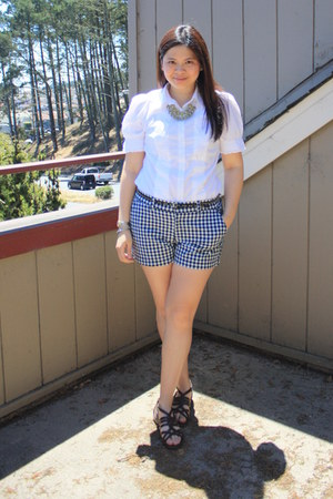 Old Navy shorts - white H&M blouse