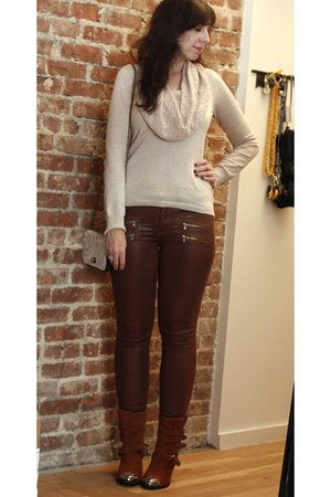 beige Anthropologie sweater