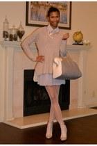 light pink Valentino boots - light pink asos dress