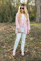 light pink pastel Forever 21 blazer - ivory trousers Zara pants
