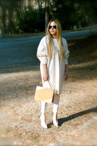 white trousers Juicy Couture pants - light pink balenciaga boots