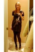 American Apparel dress - vintage top - joe fresh style skirt - vintage shoes