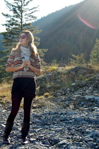 DAlliards sweater - tricot joli dress - aa skirt - joe fresh style tights - bana