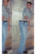 blue Ralph Lauren jeans - brown Steve Madden shoes - brown Secondhand belt - Sec