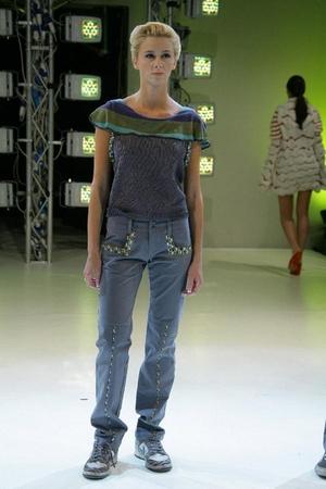 gray daniela rivano pants - daniela rivano blouse