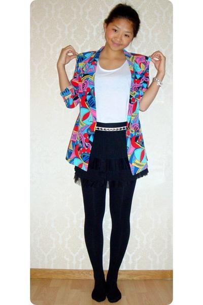 vintage blazer - GINA TRICOT skirt - China top - Bik Bok belt - Tiffany & Co acc