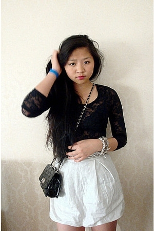 GINA TRICOT top - GINA TRICOT skirt - GINA TRICOT purse - Bik Bok belt - Tiffany