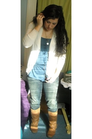 Gap top - Old Navy sweater - Delias jeans - Steve Madden boots - Urban Outfitter