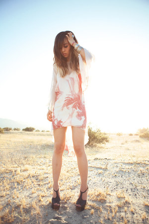 ivory sheer floral Topshop dress