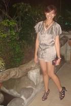 Topshop romper shorts - Mango purse - ichigo shoes