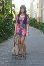 Purple-topshop-dress-brown-schu-shoes-gold-rampage-accessories-blue-mango-
