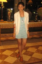 Zara top - Zara blazer - kimono from Bead Lady necklace - Le Donne shoes