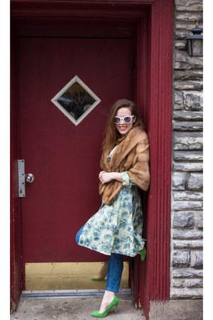 vintage coat - vintage coat - H&M jeans - Zara pumps