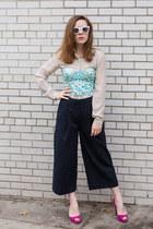 H&M top - Uniqlo blouse - Primark pants