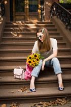 Cath Kidston bag - Primark bag - Manolo Blahnik shoes - River Island jeans
