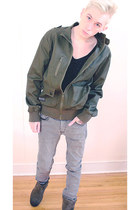 army green Marc Ecko jacket - light brown Guess boots - silver H&M jeans