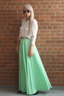 Mint-maxi-skirt-vintage-skirt-spiked-zara-boots-wool-h-m-sweater