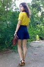 Navy-shorts-crimson-thrifted-floral-scarf-brick-red-vintage-m-chantal-purse