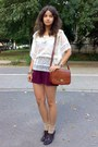 Burnt-orange-vintage-marc-chantal-purse-crimson-thrifted-shorts-tan-socks