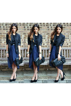 navy Love skirt - black new look jacket