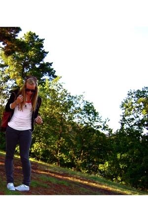 Cheap Monday jeans - Valleygirl t-shirt - Lollipop blazer - Kmart shoes - vintag