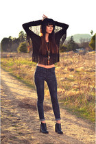 Forever 21 top - Jeffrey Campbell boots - Gap jeans