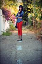 MOTHER Denim jeans - H&M shirt - Cynthia Vincent bag